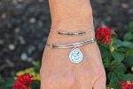 Sterling Silver adjustable chain Message Bracelet